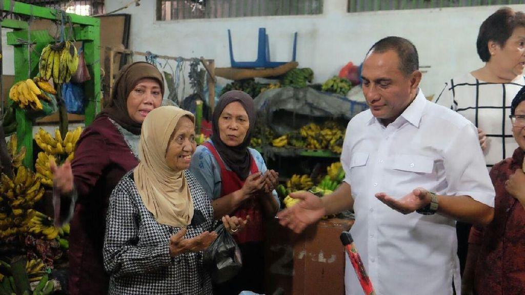 Kampanye Hari Pertama, Edy Rahmayadi Kunjungi Pasar Petisah