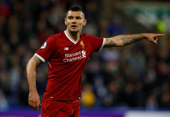 Soccer Football - Premier League - Huddersfield Town vs Liverpool - John Smith's Stadium, Huddersfield, Britain - January 30, 2018   Liverpools Dejan Lovren           REUTERS/Phil Noble    EDITORIAL USE ONLY. No use with unauthorized audio, video, data, fixture lists, club/league logos or