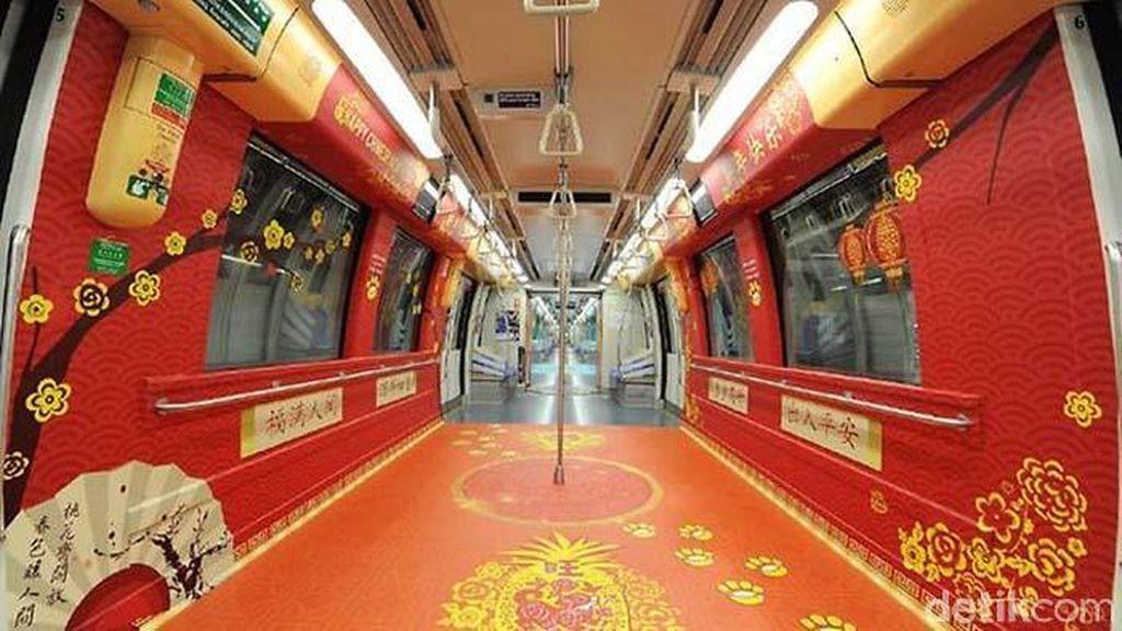 MRT di Singapura Ikut Rayakan Imlek, Begini Penampakannya