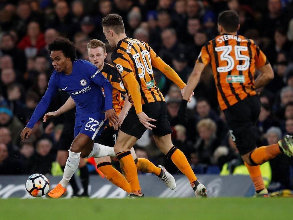 Chelsea Hajar Hull 4-0, Lolos ke Perempatfinal