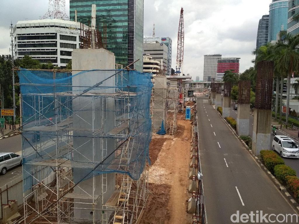 Tengok-tengok Proyek LRT di Rasuna Said