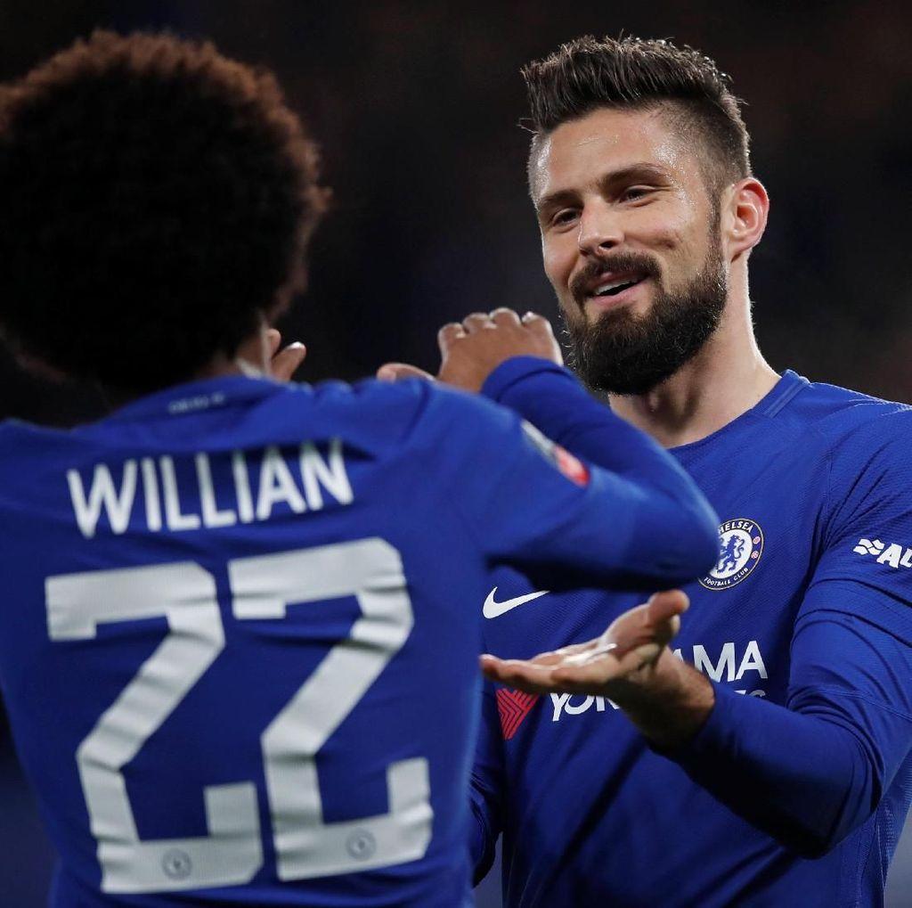 Foto: Willian-Giroud Cemerlang, Chelsea ke Delapan Besar Piala FA