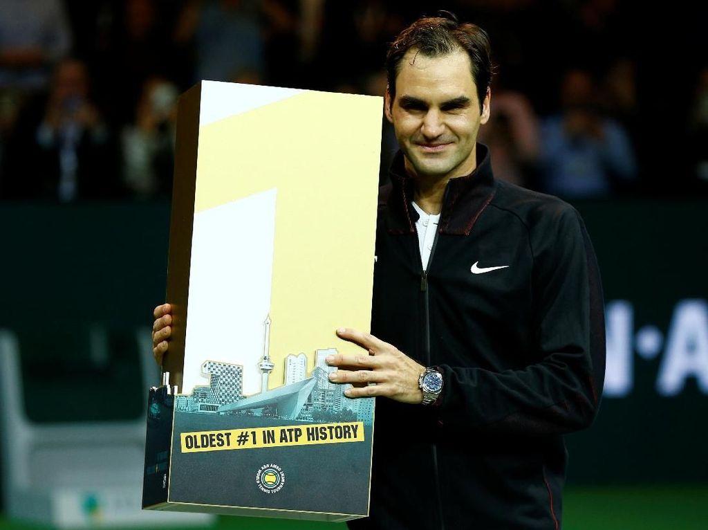 Federer Jadi Petenis Tertua No 1 Dunia