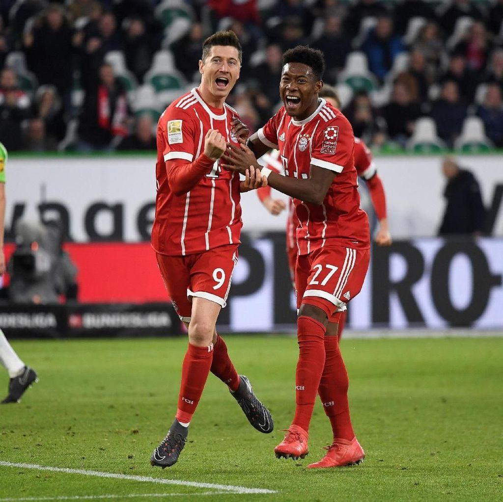 Gol Penalti Lewandowski di Injury Time Menangkan Bayern Atas Wolfsburg