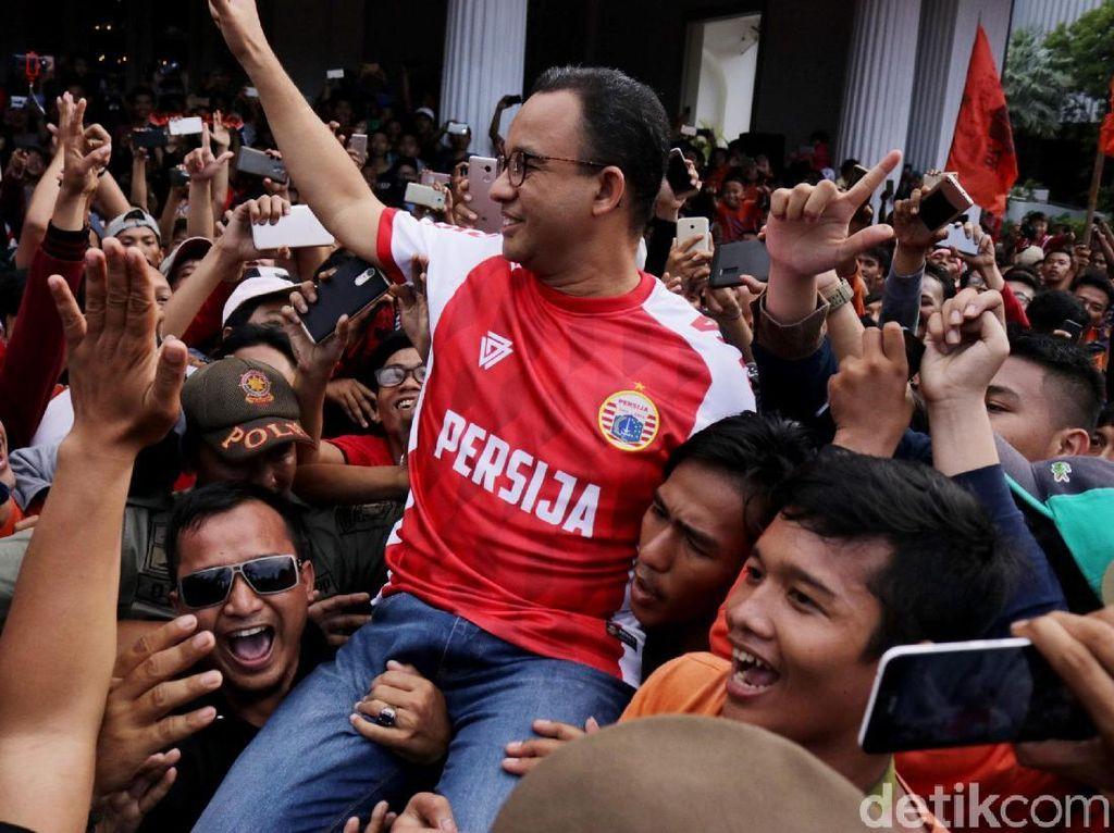 Cerita Anies Saat Jokowi Beri Ucapan Selamat Tiap Persija Cetak Gol