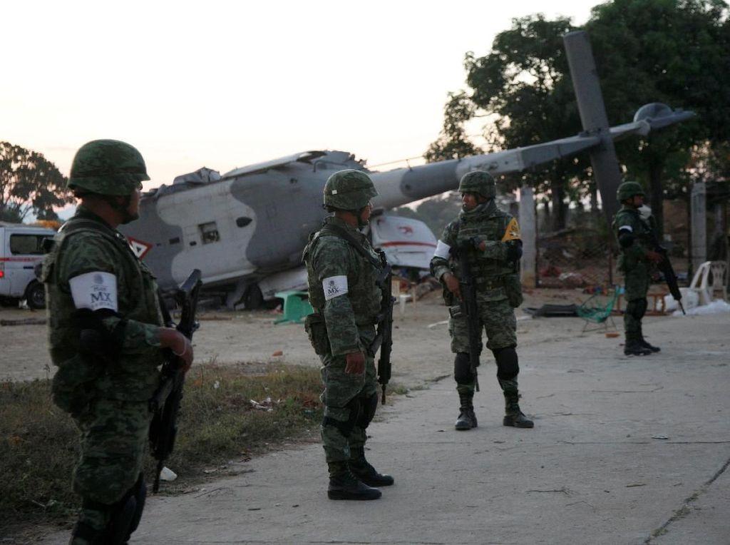 Heli Jatuh yang Ditumpangi Menteri Meksiko dan Tewaskan 13 Orang