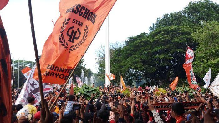 The Jakmania di Balai Kota Jakarta (Yanu Arifin/Detiksport)