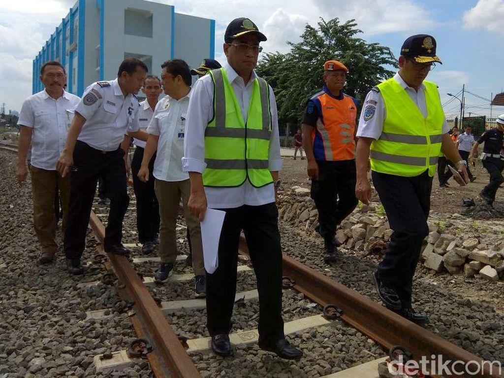 Dari Cipinang, Menhub Lanjut Pantau Pembangunan Stasiun Cakung