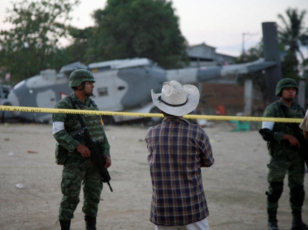 13 Orang Tewas dari Kecelakaan Heli yang Ditumpangi Menteri Meksiko