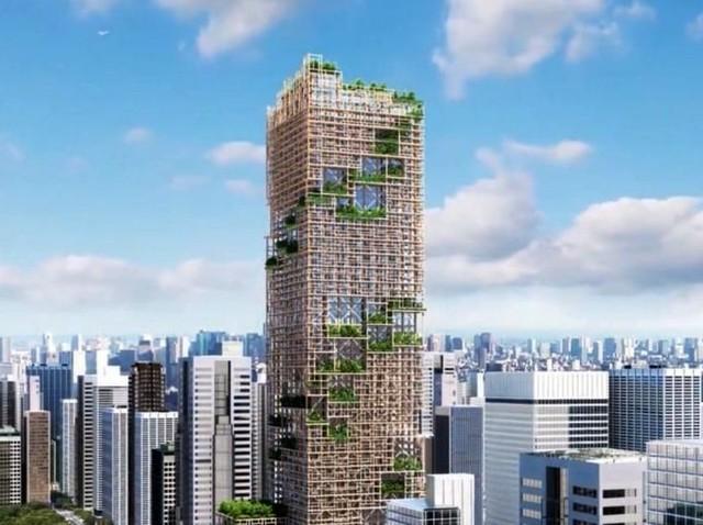 Foto: Gedung Kayu Tertinggi di Dunia Mau Dibangun di Tokyo