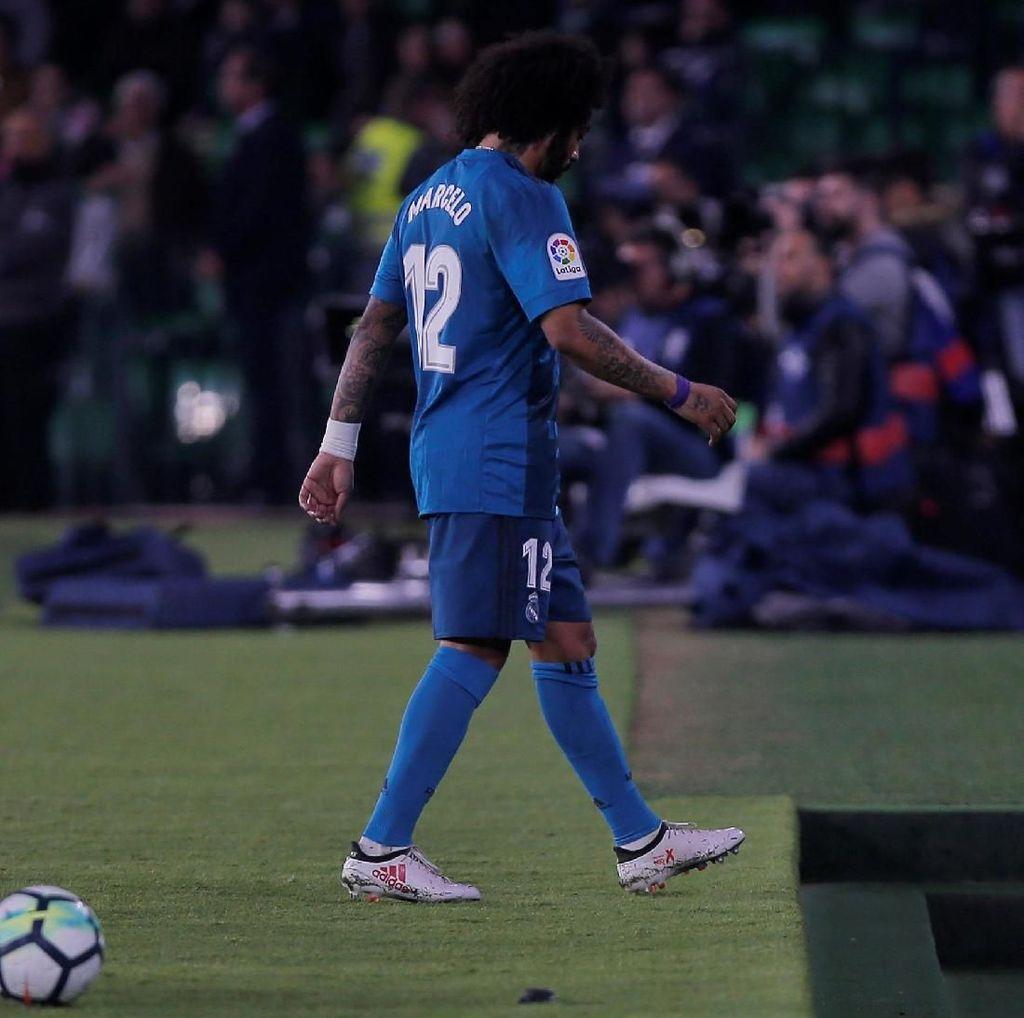 Zidane Harap-Harap Cemas Tunggu Kabar Cedera Marcelo