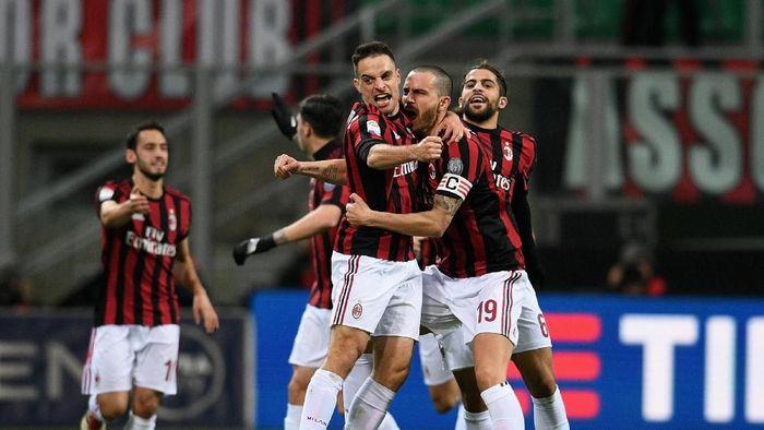 AC Milan vs Sampdoria tuntas dengan skor 1-0 untuk tuan rumah (Claudio Villa/Getty Images)