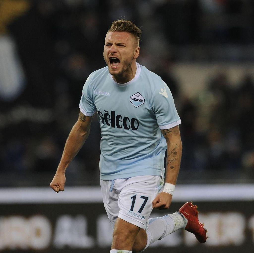 Dua Gol Immobile Antarkan Lazio Gusur Inter