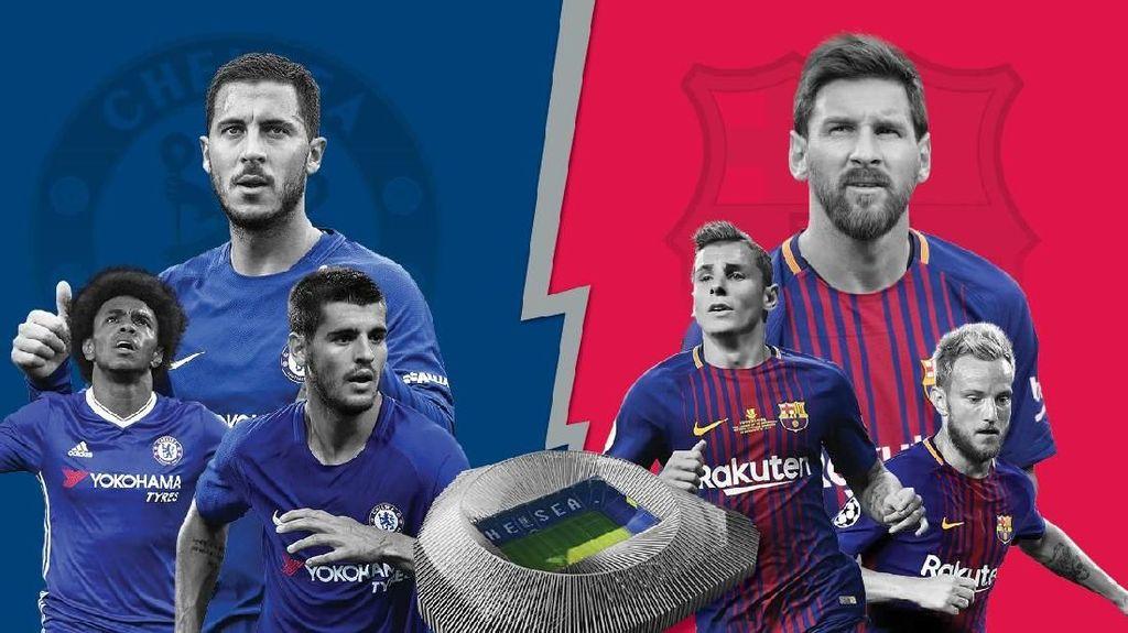 Chelsea vs Barcelona dalam Infografis