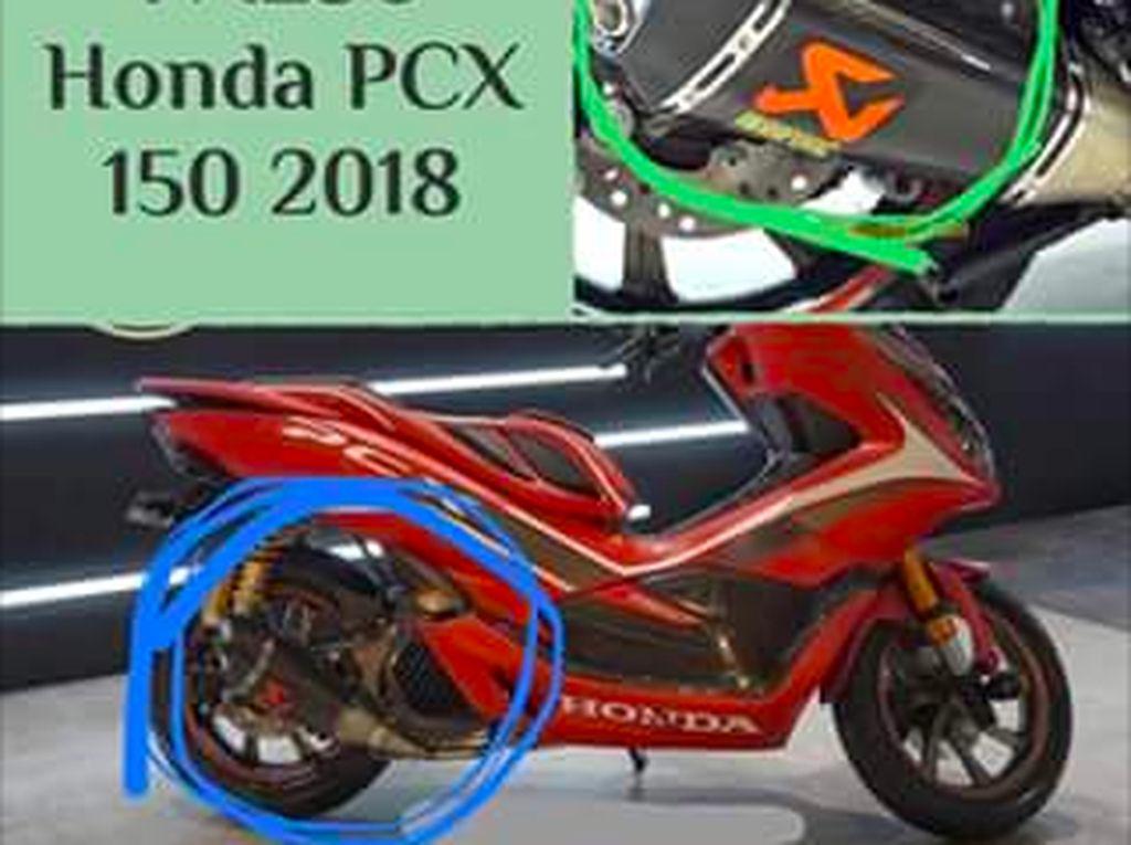 Knalpot Yoshimura Berlogo Akrapovic di PCX Modifikasi Ini Asli, Dibeli dari Amerika