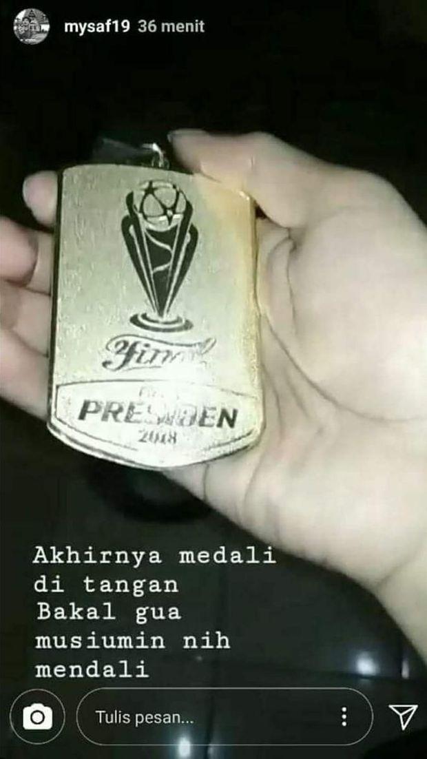 Soal Medali Bepe yang Hilang, Persija: Kami Tukar Jersey