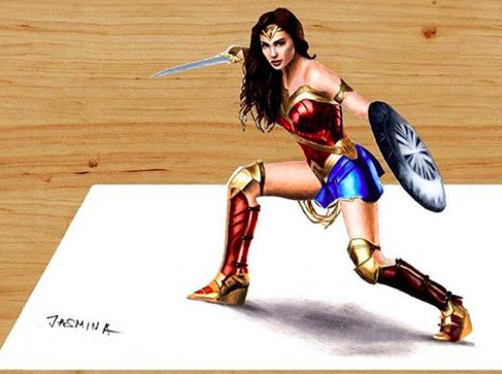 Keren! Superhero 3 Dimensi Ini Dibuat Cuma Pakai Pensil