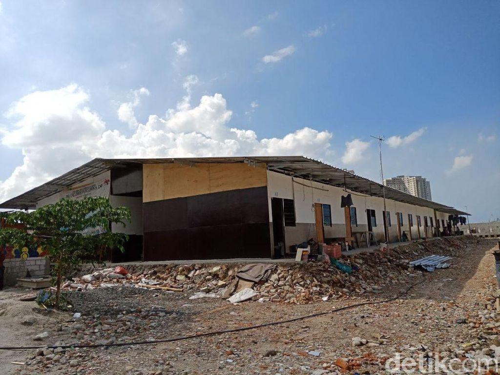 Penampakan Shelter di Kampung Akuarium yang sudah Capai 50 Persen