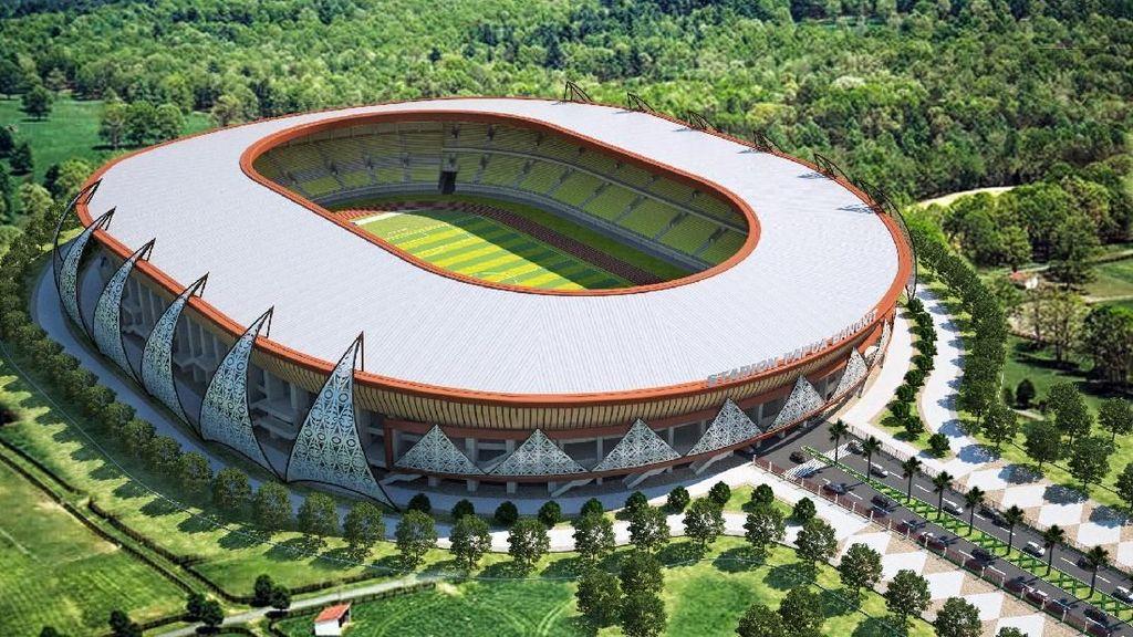 Diam-diam Papua Bangun Stadion Megah Penanding GBK