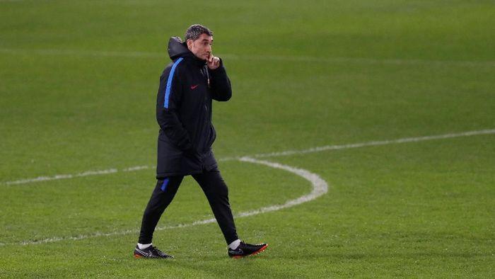 Pelatih Barcelona, Ernesto Valverde. (Foto: Matthew Childs/Action Images via Reuters)