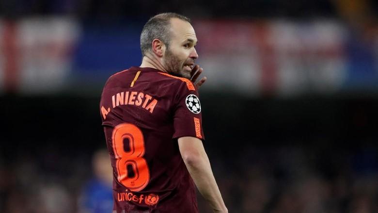 Iniesta Sudah Masuk Skuat Barcelona untuk Menjamu Chelsea