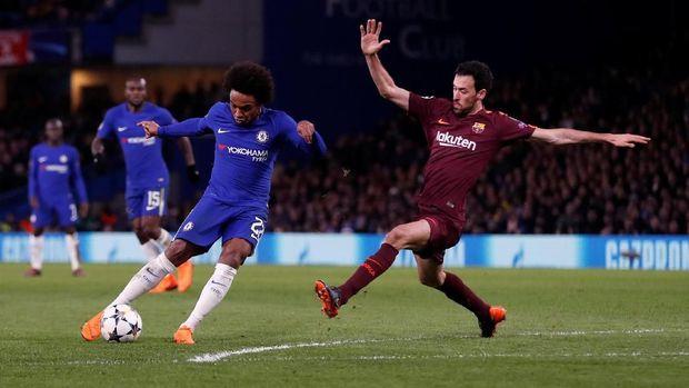 Chelsea bermain imbang 1-1 lawan Barcelona di Stamford Bridge.