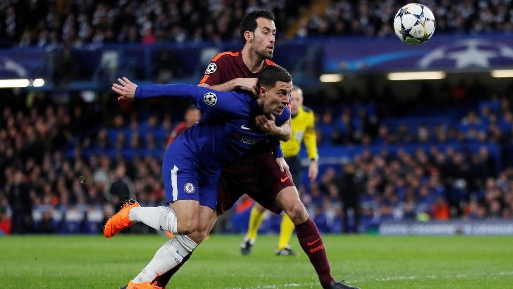 Chelsea vs Barcelona Masih Tanpa Gol