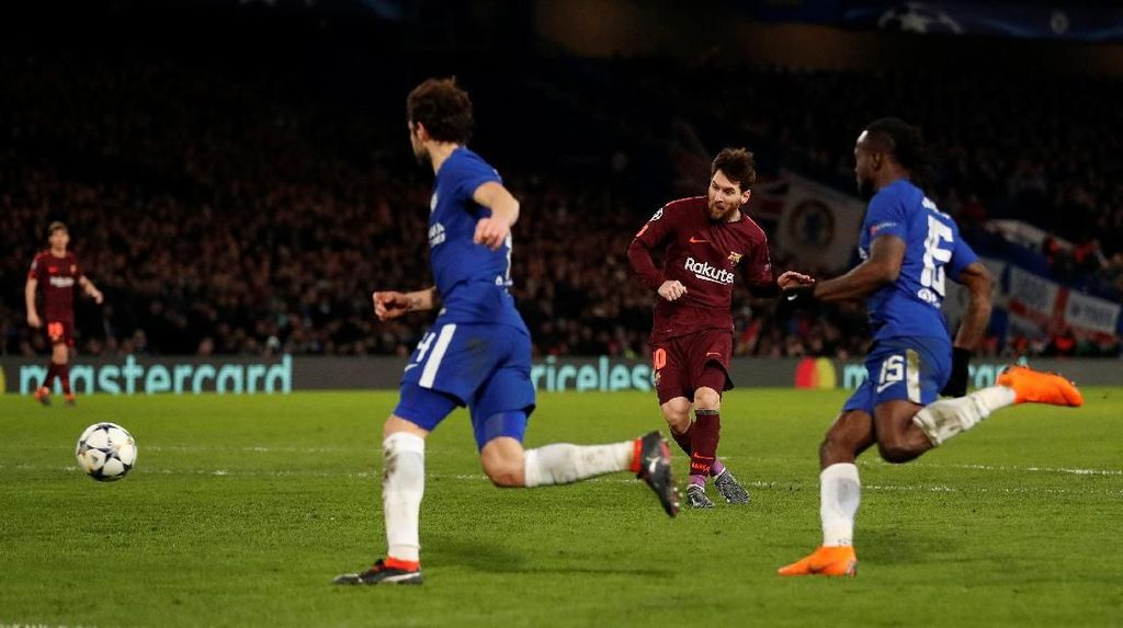Video Gol Pertama Messi ke Gawang Chelsea