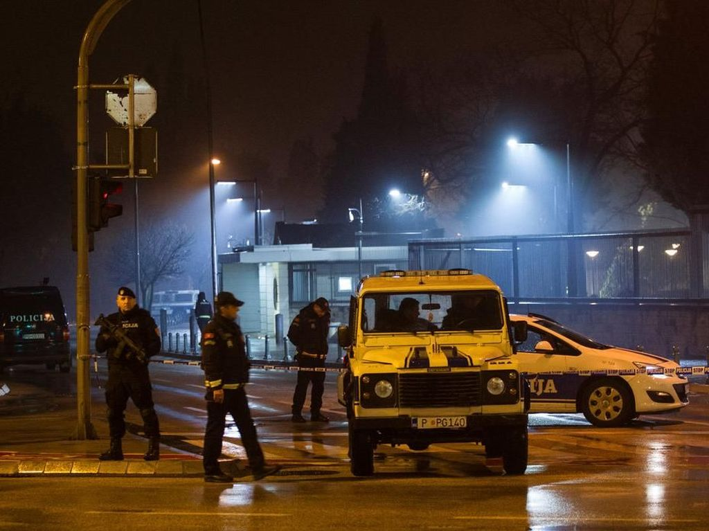 Pria Tak Dikenal Lempar Bahan Peledak ke Kedubes AS di Montenegro