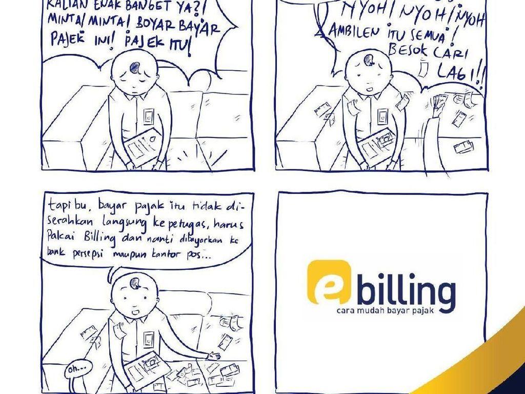 Cara Unik Ditjen Pajak Sosialisasi e-Billing Gunakan Gebyur Uang
