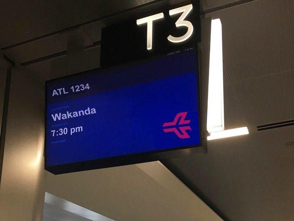 Wakanda Forever! Reaksi Kocak Soal Jadwal ke Wakanda di Bandara Atlanta