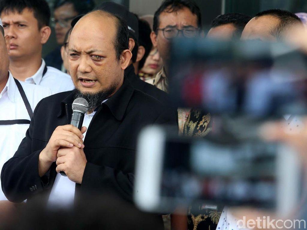 Pidato Kedatangan Novel Baswedan di KPK