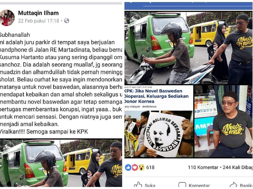Viral, Juru Parkir di Sukabumi Siap Donor Mata untuk Novel Baswedan