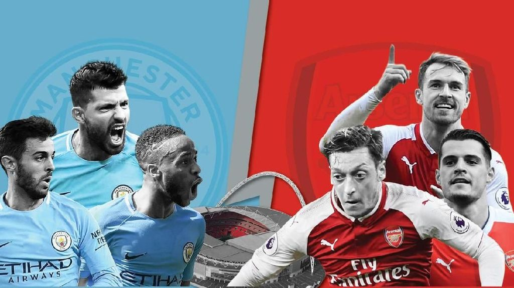 Final Piala Liga Inggris, Ini Prediksi Fans City dan Arsenal