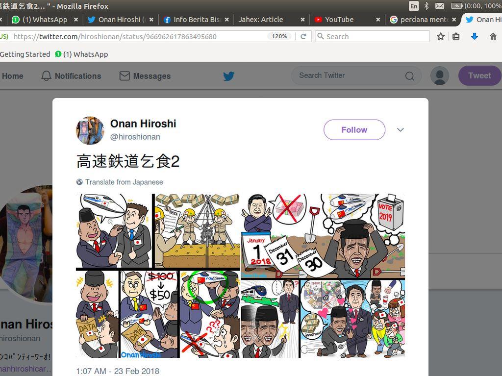 Sindiran Komikus Jepang Soal Kereta Cepat Jokowi, Benar atau Salah?