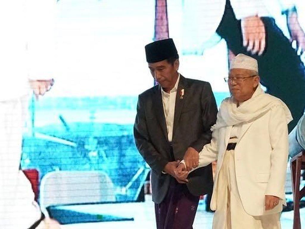 Momen Mesra Jokowi-Maruf Amin hingga Jadi Capres-Cawapres