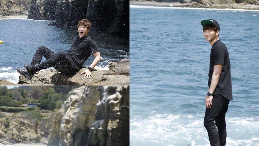 Foto: Aktor Korea Tampan Ji Chang Wook dan Liburan Pantai