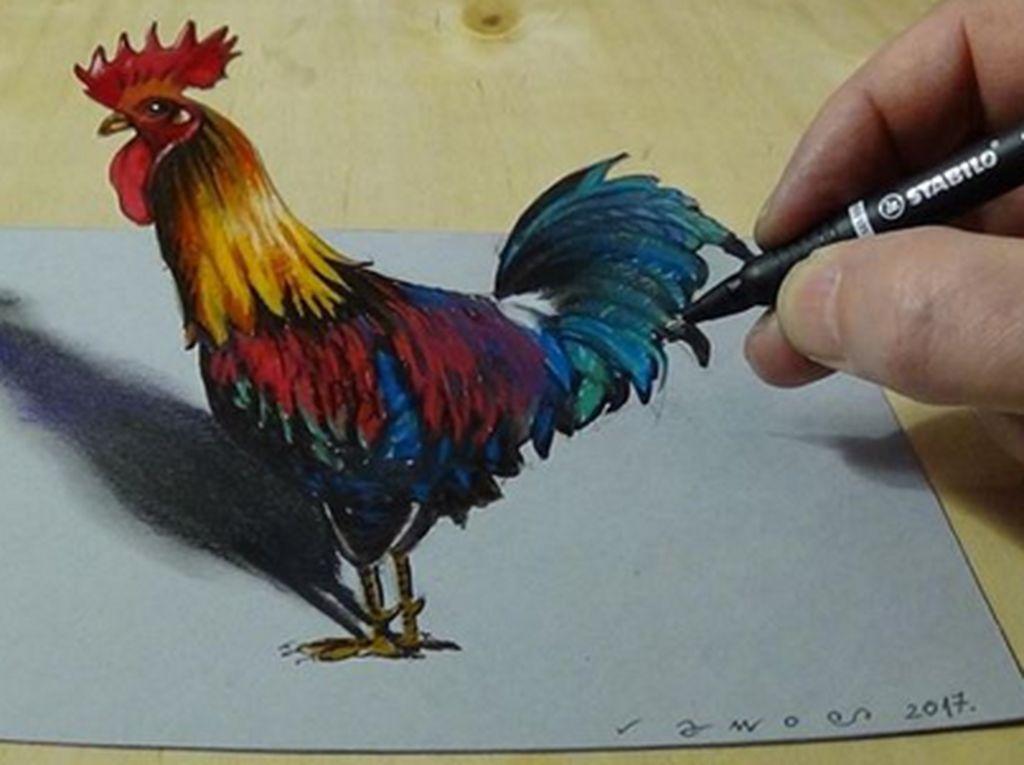 Hebat! Modal Pensil Bisa Tercipta Gambar 3D Seperti Ini