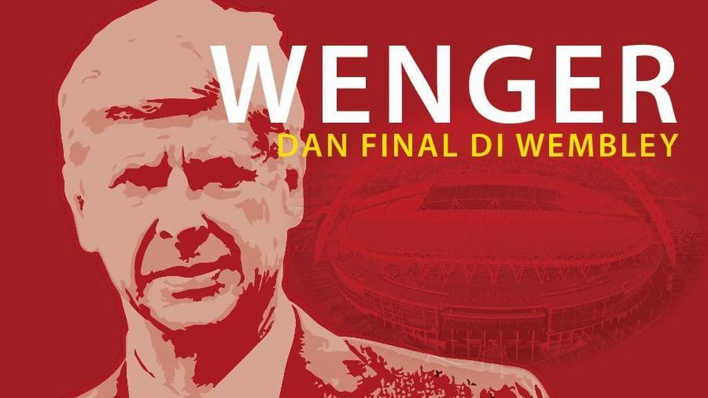 Dari Sepuluh Final di Wembley, Wenger Cuma Kalah Sekali