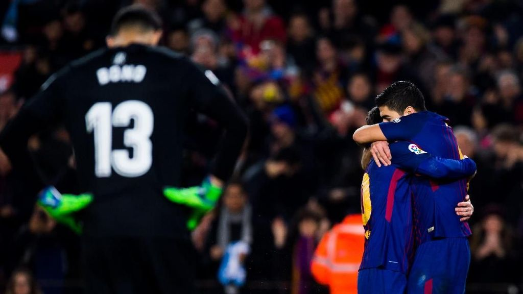 Demonstrasi Kehebatan Messi-Suarez-Coutinho di Camp Nou