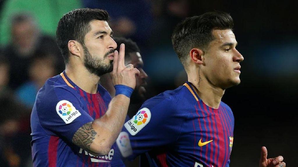 Video Mesranya Suarez-Coutinho Bikin Gol