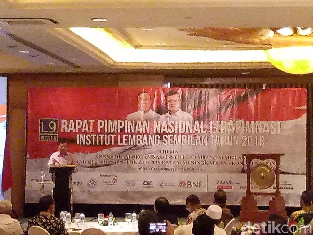 Buka Rapimnas Institut Lembang 9, JK Bicara Tahun Politik