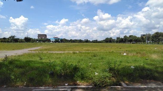 Lokasi pengeroyokan di Monumen Simpang Lima Gumul Kediri. (Foto: Andhika Dwi)
