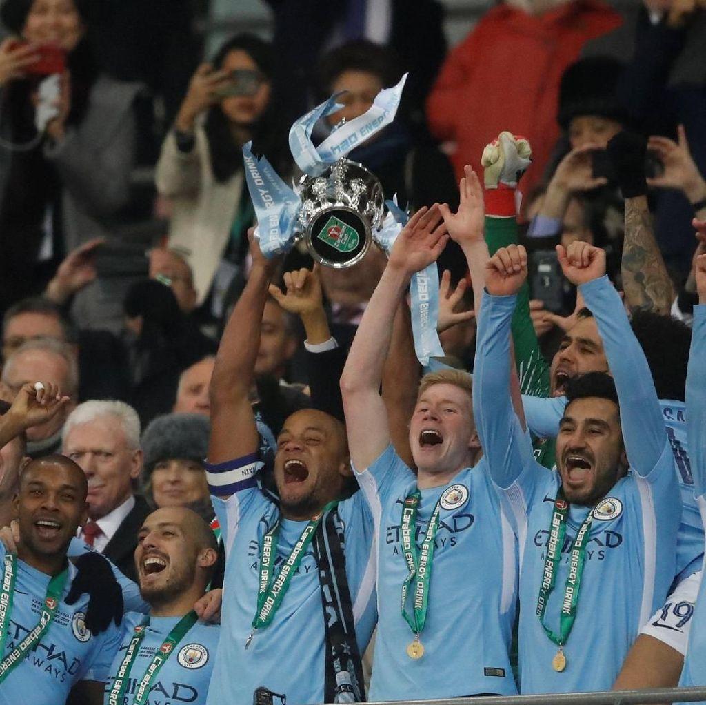 Trofi Piala Liga Inggris Kelima bagi City