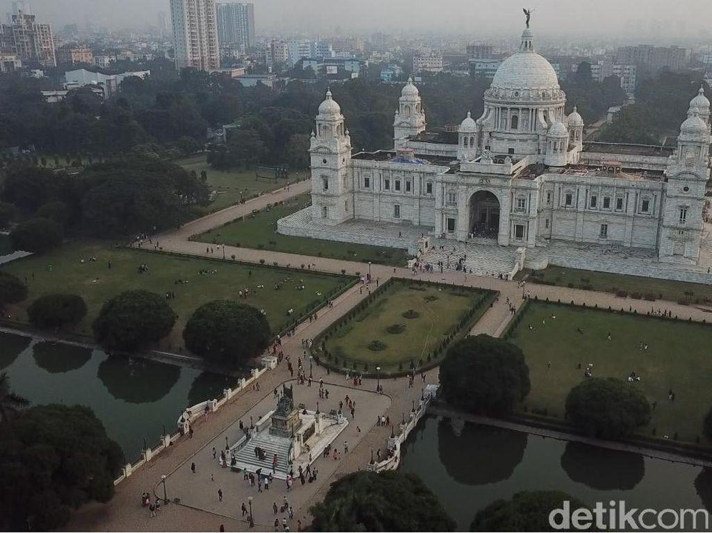 Foto Drone: Kemegahan Bangunan Kota Kolkata