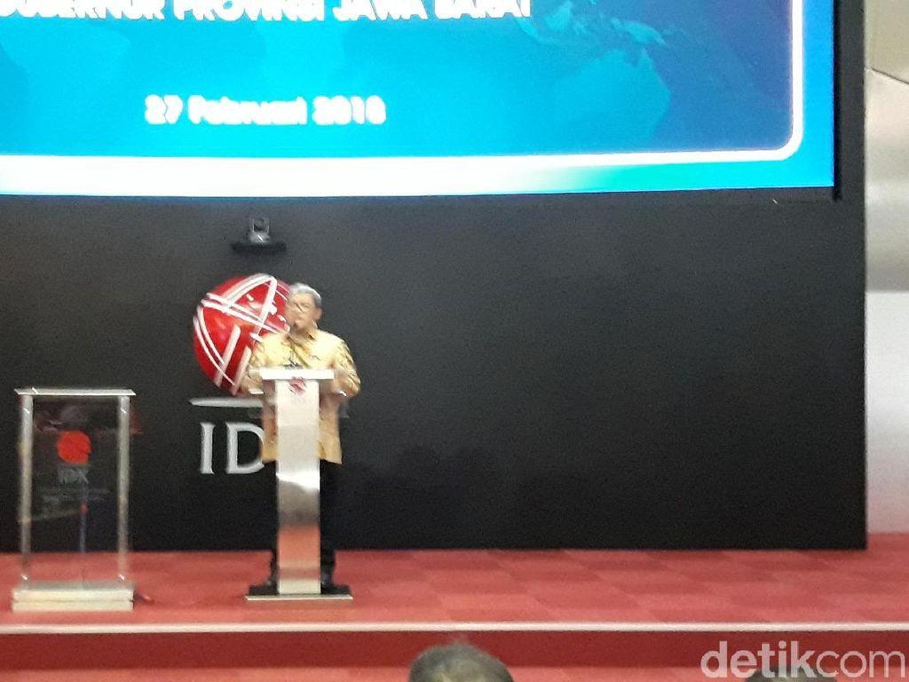 Buka Perdagangan Saham, Aher Ajak Warga Jabar Investasi di Bursa Efek
