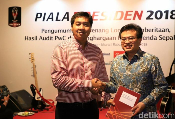 Piala Presiden 2018 mendapat penilaian wajar dari lembaga audit PricewaterhouseCoopers (PWC) dalam penutupan panitia Piala Presiden 2018 di Jakarta.Foto: dok. Piala Presiden 2018