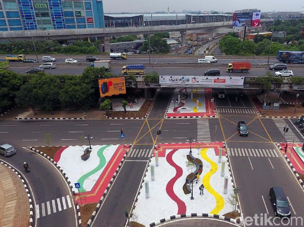 Begini Penampakan Underpass Kartini dari Udara