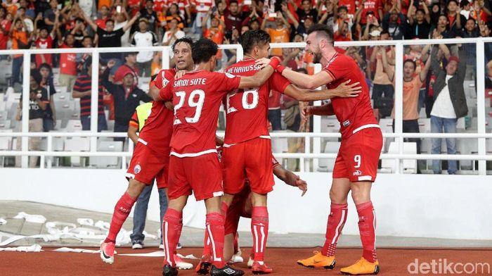 Aksi Persija di GBK dalam partai Piala AFC 2018 lawan Tampines Rovers akhir Februari lalu (Foto: Grandyos Zafna)