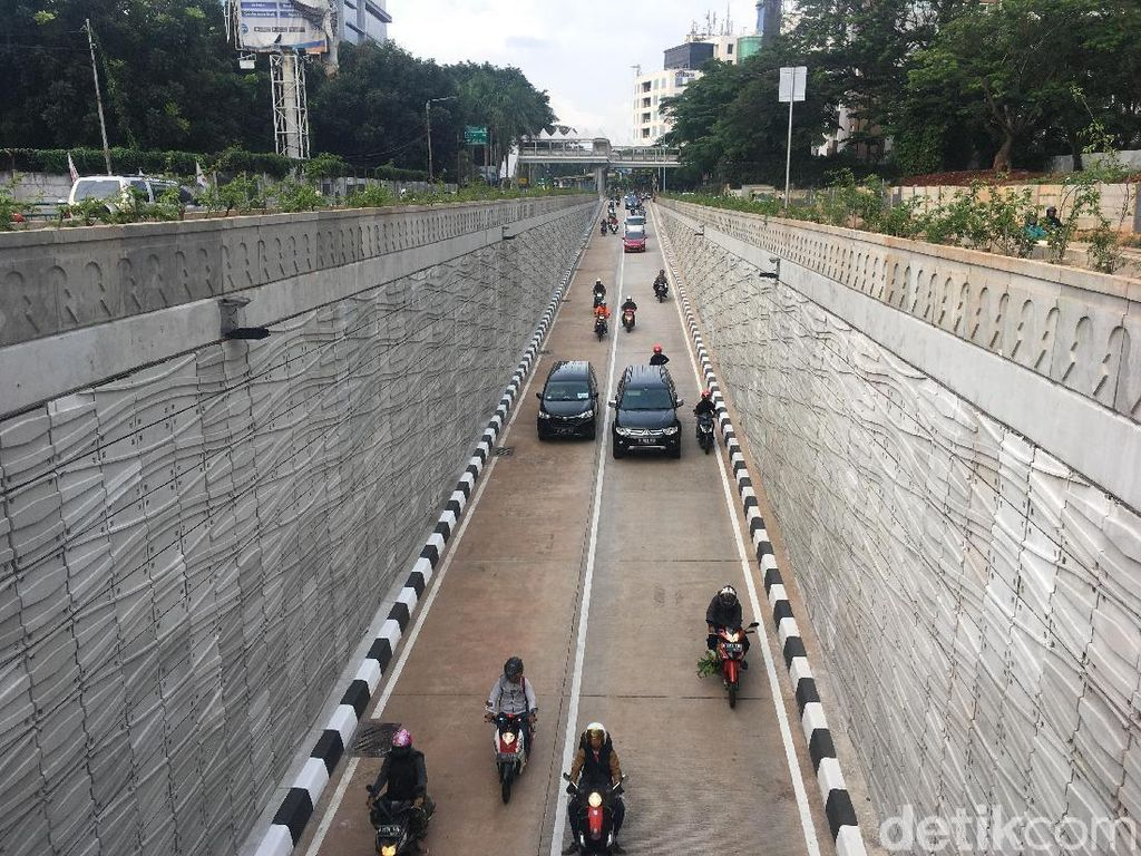 Usai Diresmikan Anies, 2 Jalur di Underpass Kartini Bisa Dilintasi
